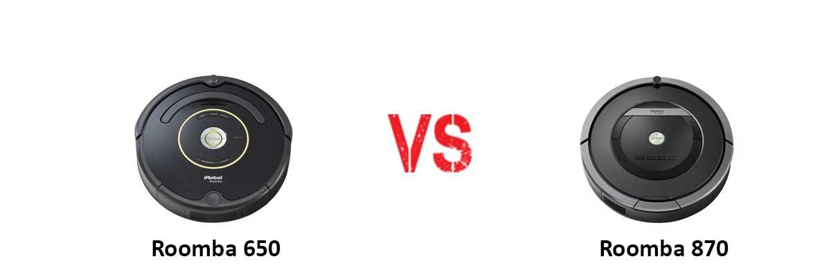 iRobot Roomba 650 vs iRobot Roomba 870
