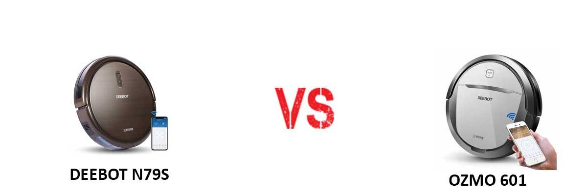 ECOVACS DEEBOT N79S vs ECOVACS OZMO 601