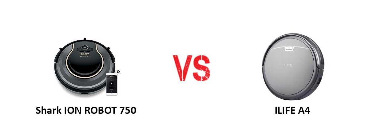 Shark ION ROBOT 750 vs ILIFE A4